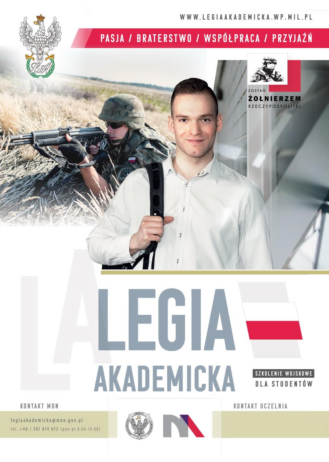 druk plakat legia akademicka 2019 420x594mm A2 wybrany do druku