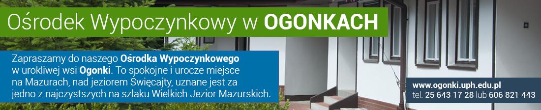 Baner przedstawia Ośrodek Wypoczynkowy w Ogonkach